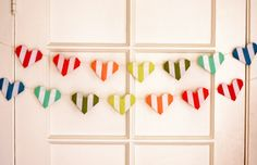 Make a striped origami heart garland | How About Orange