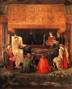 """""""The Last Sleep of Arthur in Avalon"""" by Edward Burne-Jones. (I've always loved this one. Can't get enough of the PRB.)"""
