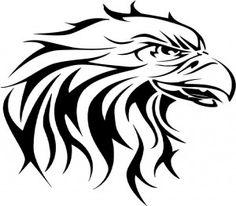 Cool Tribal Eagle Tattoo