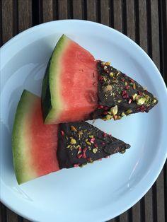 Vandmelon med chokolade #vandmelon #vandmelonmedchokolade