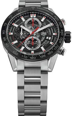 15ed0b23714 Tag Heuer CAR201V.BA0714 Carrera stainless steel and ceramic chronograph  watch. Relógios De Luxo Para HomensCronógrafoRelógio Inteligente100 ...