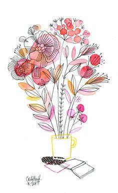 tasse bouquet, Cécile Hudrisier