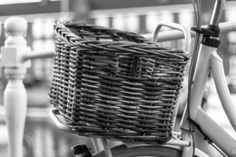 Bicycle Basket Black and White