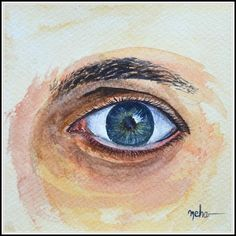 Eye - Obra de Neha Soni #painter #painting #art #watercolor