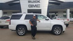 ALAN's new 2016 GMC Yukon! Congratulations and best wishes from Hall Buick GMC and GERMAN FLORES.