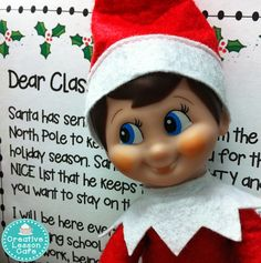 Creative Lesson Cafe: I've Got My Eye on You and an Elf Note Freebie