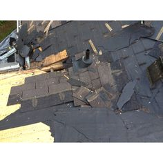 Rotted roof deck near plumbing vent pipe.