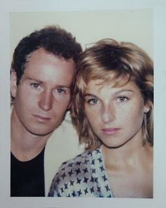John McEnroe & Tatum O'Neal photographed by Andy Warhol Hollywood Couples, Hollywood Celebrities, Celebrity Couples, Hollywood Style, Andy Warhol Portraits, Kristy Mcnichol, Actrices Hollywood, Celebrity Gallery, Famous Couples