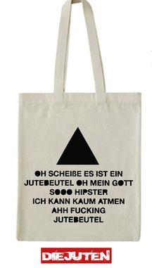 "Jutebeutel  ""Triangle"" // tote bag by Die Juten via DaWanda.com"