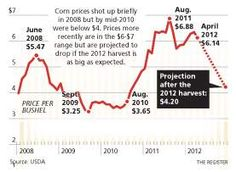 """Iowa's farmers and state economy watchers face the reality that a """"historically rare period"""" of prosperity for Iowa agriculture may be ending.    The U.S. Department of Agriculture last week forecast a return to more normal corn surpluses of almost 2 billion bushels. The more ample supplies could drive down corn prices to as low as $4.20 per bushel by year's end, compared with an average price of $6.20 in 2011, the USDA predicted."""