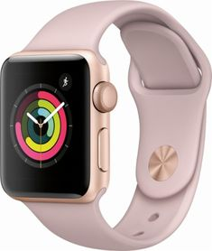 1fc1b4625 Apple - Apple Watch Series 3 (GPS), 38mm Gold Aluminum Case with Pink Sand Sport  Band - Gold Aluminum