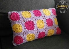 Sarinah Craft's: Granny Square Pillow Cover