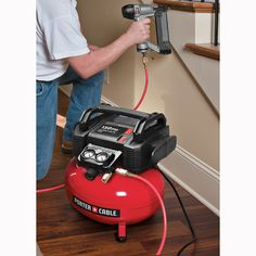 Dad will be blown away when you treat him to a new Porter-Cable electric air compressor.