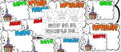 Recursos para maestros: Posters de cumpleaños