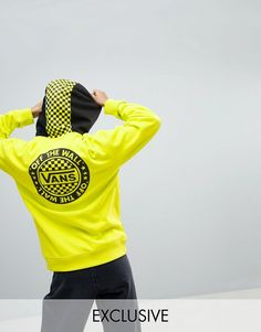6ed43ad2aded Vans Exclusive To Asos Oversized Hoodie In Yellow