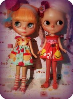 Adorable in Button Arcade Dresses, customes by Kyi Lynn and KK In Lala land #blythe