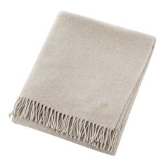 Keep a layer of warmth to hand with this Must Have blanket from Zoeppritz. Luxuriously soft to the touch, the blanket features a tasselled edge finish and a discreet logo. Made from virgin wool, Luxury Throws, Home Accessories, New Homes, Blanket, Stuff To Buy, Shopping, Design, Touch, Wool