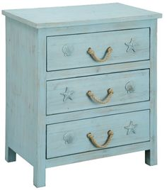 Stunning statement cabinets & chests with a coastal, beach and nautical theme.