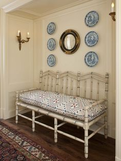 Hanging Plates On Wall love the wall and the blue & white plates! | blue and white plate