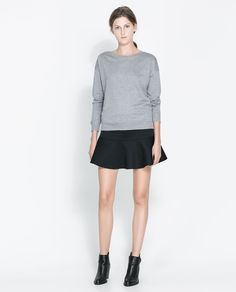 ZARA - WOMAN - QUILTED SKIRT WITH FRILL