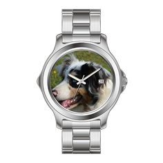 KSD Custom Gift Watch Women's Fashion Japanese Quartz Date Stainless Steel Bracelet Wrist Watch blue merle australian shepherd watches *** You can get more details here (This is an amazon affiliate link. I may earn commission from it)