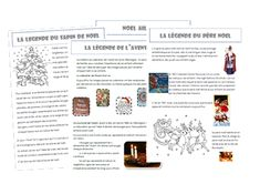 légendes de noël étude documentaire cycle 2 School Organisation, Core French, High School Classroom, Important Facts, Cycle 3, Reading Lessons, Teaching French, Teaching Tools, Reading Comprehension