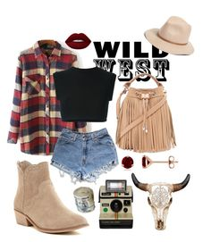 """""""Wild West Style"""" by ronny22 ❤ liked on Polyvore featuring Hinge, Chinese Laundry, Levi's, adidas Originals, Forever 21, Lime Crime, contest, wild, western and wildwest"""