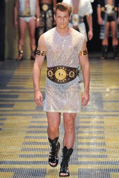 Donatella Versace takes men s fashion to a fun place incorporating bright  wild. 3cab11a3546