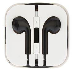 Plugue de 3,5 mm In-ear fone de ouvido com microfone e controle de volume para iPhone4/4S e outros (opcionais Cores) – BRL R$ 10,60