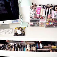 """""""Sharing a little look inside my IKEA Malm Dressing Table over on my blog ✨"""""""