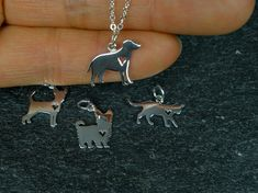 Sterling Silver Dog Necklace Dog Lover gift by StarringYouJewelry