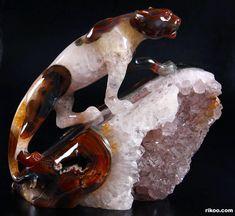 Agate Geode Crystal Leopard