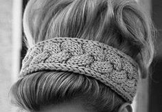 knitted headband for winter