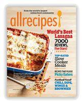 Allrecipes Magazine and web site great food ideas Slow Cooker Recipes, Cooking Recipes, Cooking Tips, Cooking Websites, Cooking Videos, Food Tips, Food Food, Food Ideas, Worlds Best Lasagna