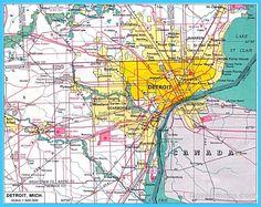 Detroit Map, Metro Detroit, Detroit Michigan, Detroit Area, Parts Of The Mass, Hazel Park, Photo Banner, World Cities, Poster Pictures