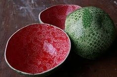 Watermelon bowls!