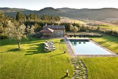 The garden and pool at Casa Biondi  http://www.redsavannah.com/villas-ski/europe/italy/tuscany/casa-biondi/overview/