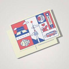 엽서 디자인-한국, 브라질, 호주, 카타르(도하), 미국(리치몬드) Simple Card Designs, Abstract Face Art, Stationary Design, Postcard Design, Illustrations And Posters, Brochure Design, Graphic Design Inspiration, Editorial Design, Note Cards