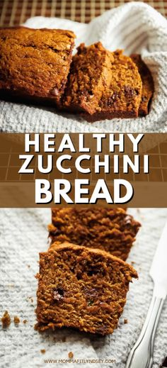 Healthy moist zucchini bread recipe with chocolate chips. Easy to make healthy zucchini bread Healthy Homemade Snacks, Healthy Snacks List, Healthy Baking, Snack Recipes, Moist Zucchini Bread, Zucchini Bread Recipes, Healthy Zucchini, Chocolate Chip Recipes, Chocolate Chips