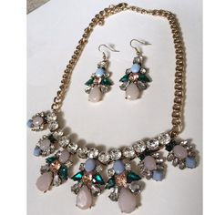 REDUCED Busy Bee Jeweled Summer Necklace Set Wow everyone this summer with this  Gorgeous Jeweled Summer Necklace Set! Complete with a necklace and pierced dangle earrings, this set is perfect for shopping or even a date! LOWEST PRICES ARE LISTED UPFRONT! Jewelry Necklaces