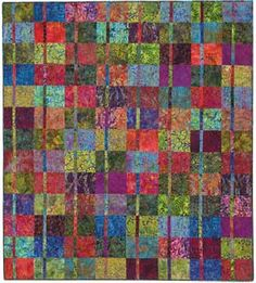 Juxtaposition Quilt - bought this pattern to help bust the stash - love it in bali fabrics, will also try in other fabrics Batik Quilts, Sampler Quilts, Quilting Projects, Quilting Designs, Quilting Ideas, Textiles, Modern Quilt Blocks, Keepsake Quilting, Crochet Quilt