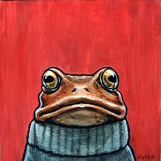 turtleneck, kelly vivanco - so cute - kizzy Frog Pictures, Frog Art, Cute Frogs, Frog And Toad, Children's Book Illustration, Book Illustrations, Whimsical Art, Art Drawings, Turtle Neck