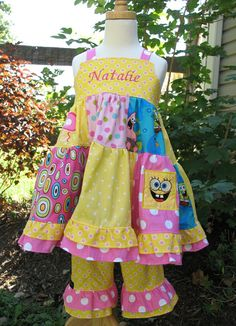 Livie wants a SpongeBob birthday party next year. I love this outfit.
