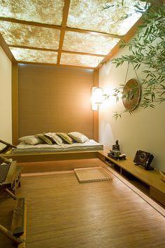 Wohnzimmer wohnideen japanischer stil niedrige holz tisch for Tisch japanisches design