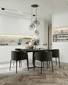 Dining room furniture ideas that are going to be one of the best dining room design sets of the year! Get inspired by these dining room lighting and furniture ideas! Dining Room Lamps, Dining Room Lighting, Dining Room Design, Dining Area, Kitchen Dining, Dining Rooms, Dinning Table, Nordic Kitchen, Design Room