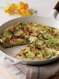 Squash Blossom Frittata Recipe | Vegetarian Times