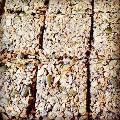 Debbie Adler's new Muesli Hi-Energy Bars! #glutenfree #sugarfree #vegan  Recipe here: http://sweetdebbiesorganiccupcakes.com/muesli-hi-energy-bars/