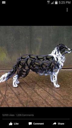 "Fleurot Parker on ""Turn Scrap Metal Into Animals"" Horseshoe Projects, Horseshoe Crafts, Horseshoe Art, Horseshoe Wine Rack, Shielded Metal Arc Welding, Metal Welding, Metal Sculpture Artists, Steel Sculpture, Lion Sculpture"
