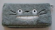 Very Cute My Neighbor Totoro Long Fuzzy Gray Color Clutch Wallet by Totoro. $9.99