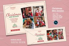 Christmas Mini Session Template-V06 by retrographix on @creativemarket